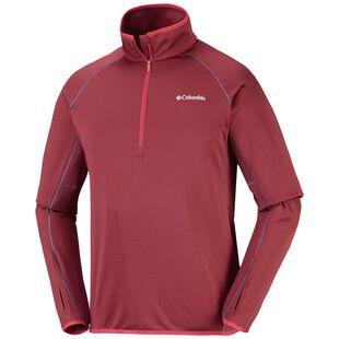 4ee1e17e83cb Mens Mount Powder Half Zip Fleece Jacket (Red Element)