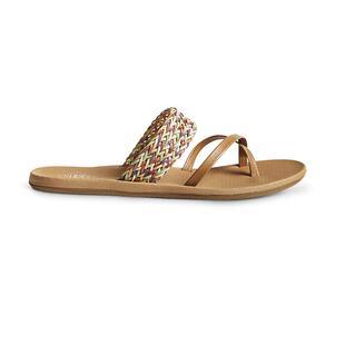 b53e48b64fc092 Womens Carolina Flip-Flops (Tan Multi)