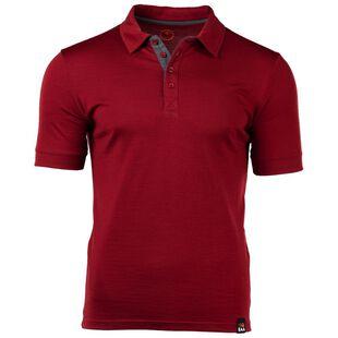 Mens Merino 180 Short Sleeve Polo Shirt (Red) ab60de51b