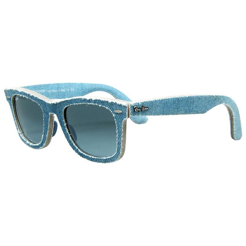 95e08814f5e0e RB2140 Original Wayfarer Sunglasses (Denim Light Blue Blue Gradient Lens)