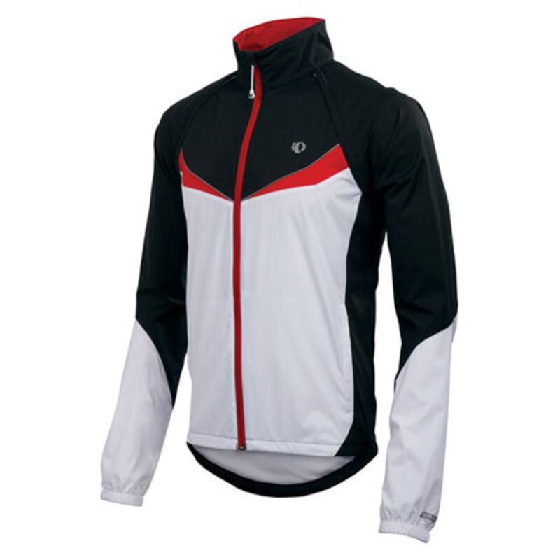 Pearl Izumi Mens Elite Barrier Convertible Jacket (Black White)  c39aebd9c