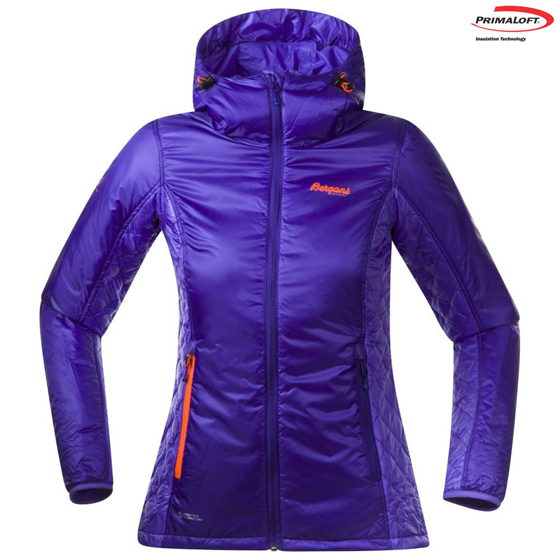 5e96112a3 Bergans Womens Slogen Insulated Jacket (Dark Primula/Neon Orange)