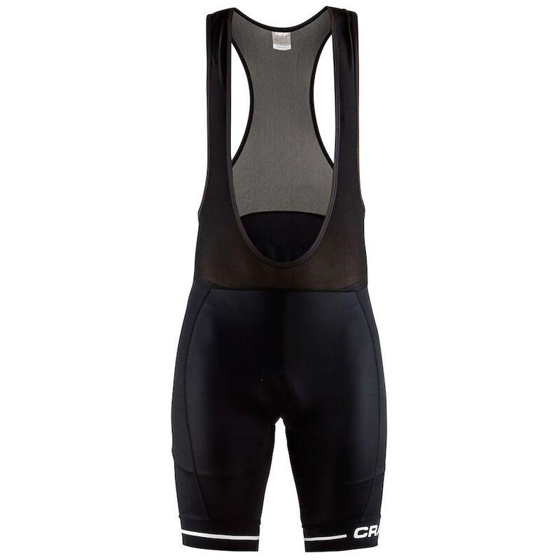 Craft Mens Rise Bib Shorts (Black White)  b59ad7ead