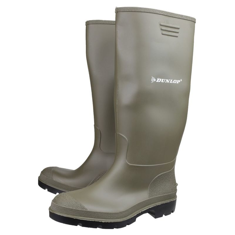 258c8cf848d Dunlop Mens Pricemastor Wellington Boots (Green)