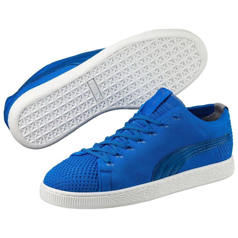 pretty nice 03718 2cded Puma Mens Basket EvoKnit 3D Shoes (Electric Blue ...
