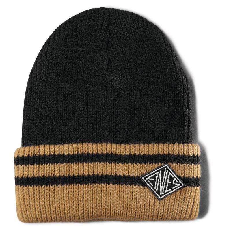 c86729a4373 Etnies Mens Drifter Beanie Hat (Black Yellow)