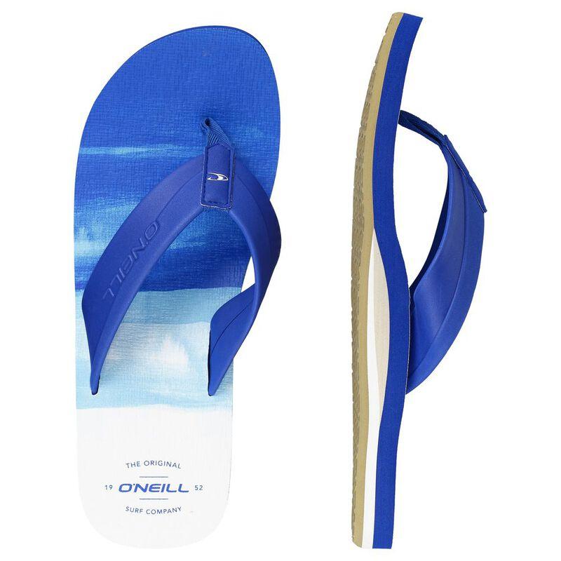 b0928a6b9c4 O Neill Mens Imprint Pattern Flip Flops (Blue All-Over Print)