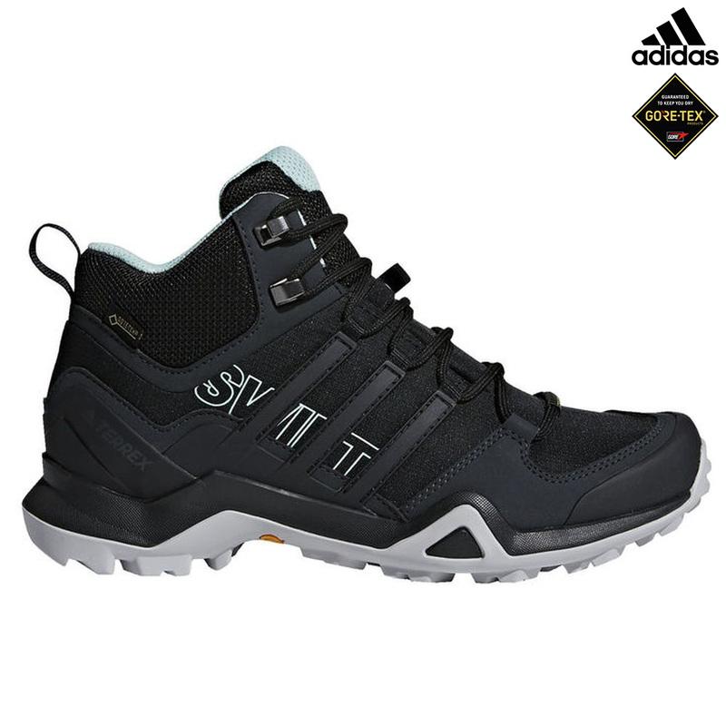 1a465d83e56 Adidas Womens Terrex Swift R2 Mid GTX Shoes (Core Black/Core Black/Ash
