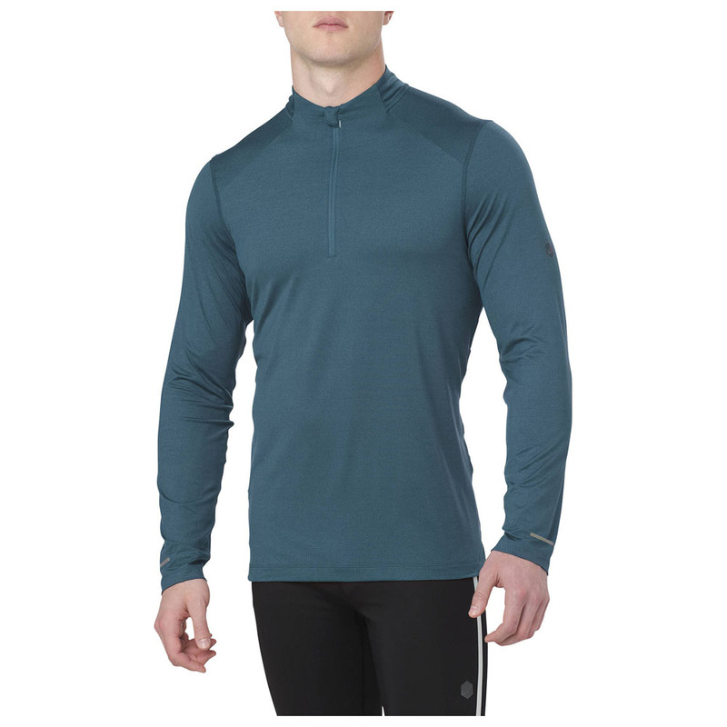 official photos 9c3ed 6af9d Mens Running 1 2 Zip Pullover (Blue)