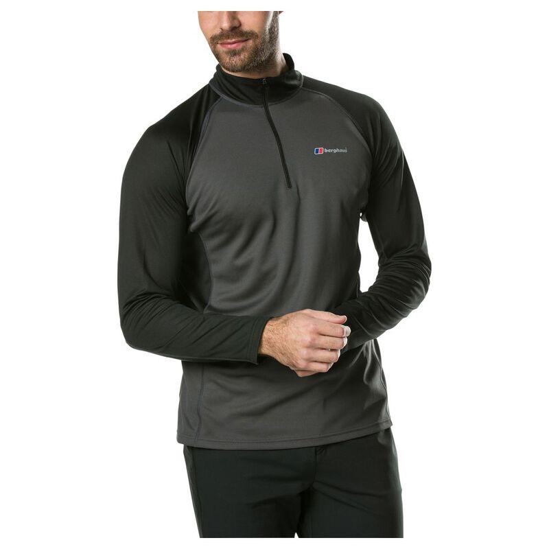 Berghaus Mens Tech Tee Long Sleeve Zip 2.0