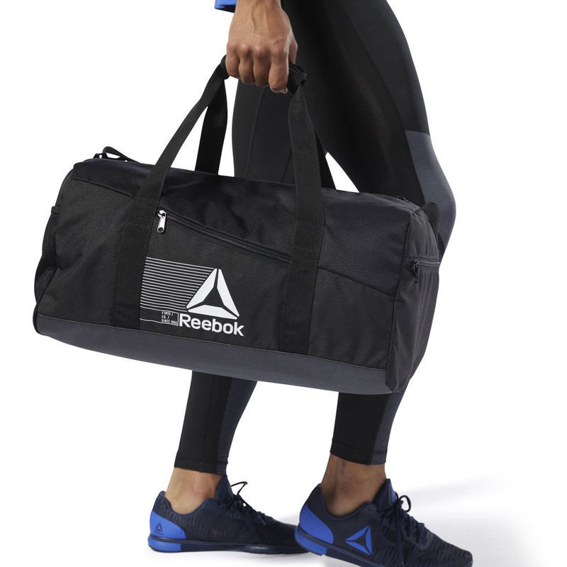 9c57b1bd9ce Reebok Mens Active Foundation Grip Medium Duffle Bag (Black)