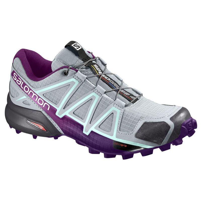 Salomon Womens Speedcross 4 Shoes (QuarryAcaiFair Aqua