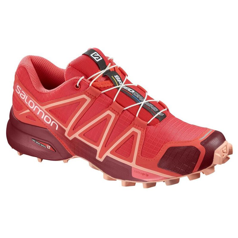 Salomon Womens Speedcross 4 Shoes (Hibiscus Red Dalhia Peach Amber)  42bc3e9b105