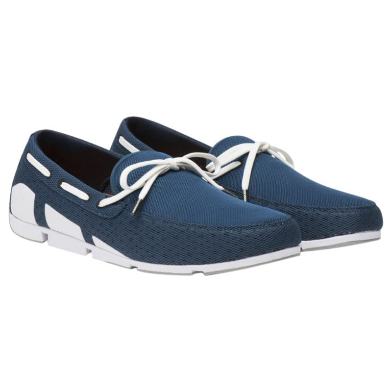 d8db5d91479 Swims Mens Breeze Lace Loafers (Poseidon White Grey)