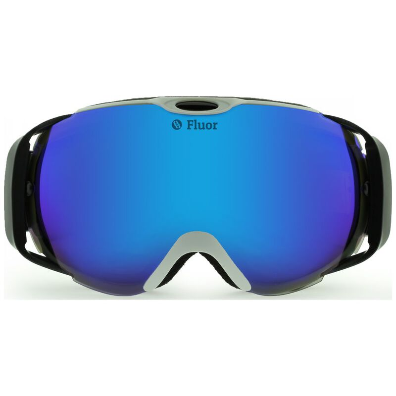 Teknic Fluor HX012 Ski Goggles (White/Blue) | Sportpursuit com