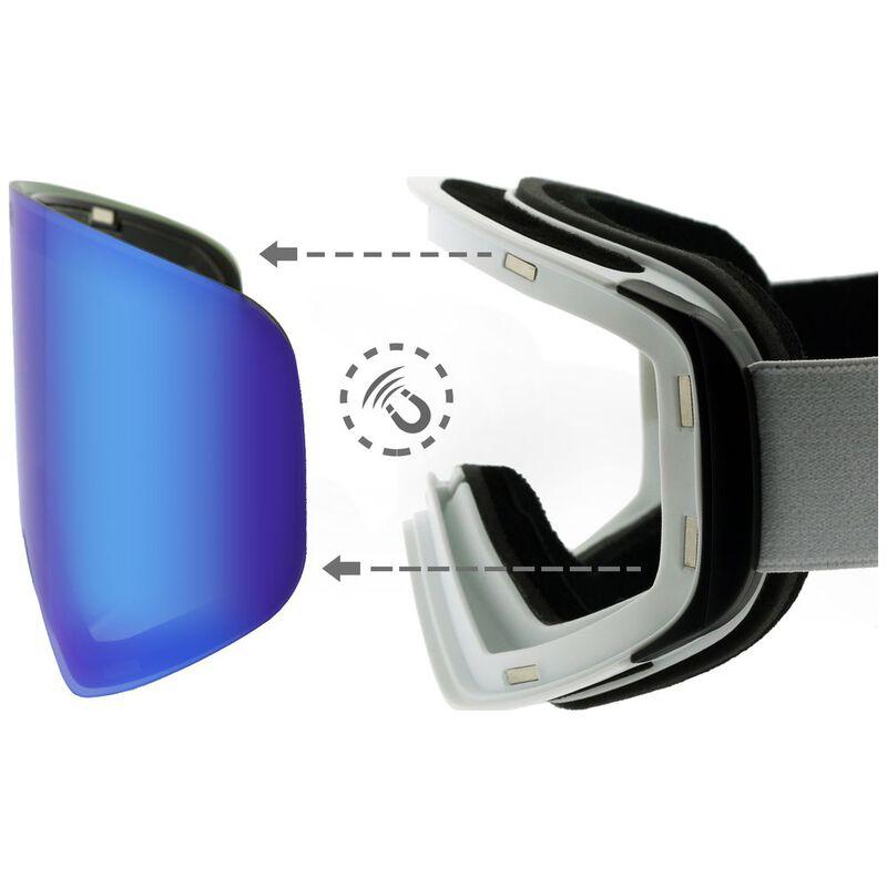 63847344c6d Teknic HX025 Ski Goggles (White Blue)