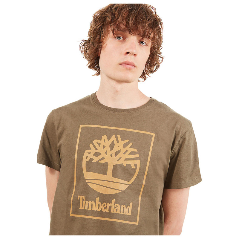 9401572250 Timberland Mens Squared Tree Logo T-Shirt (Grape Leaf)   Sportpursuit.