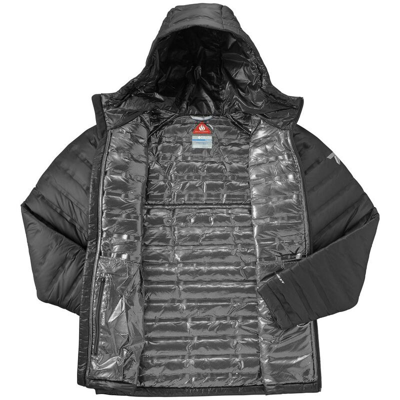 unique style authorized site new product Columbia Mens Titan Ridge Down Hooded Jacket (Black ...