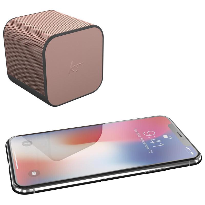 KitSound Boom Cube Portable Wireless Speaker (Rose Gold