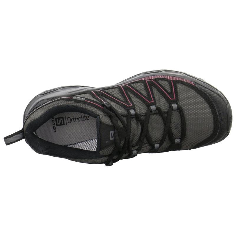 Salomon Womens Wentwood GTX Shoes (MagnetBlackTibet Red