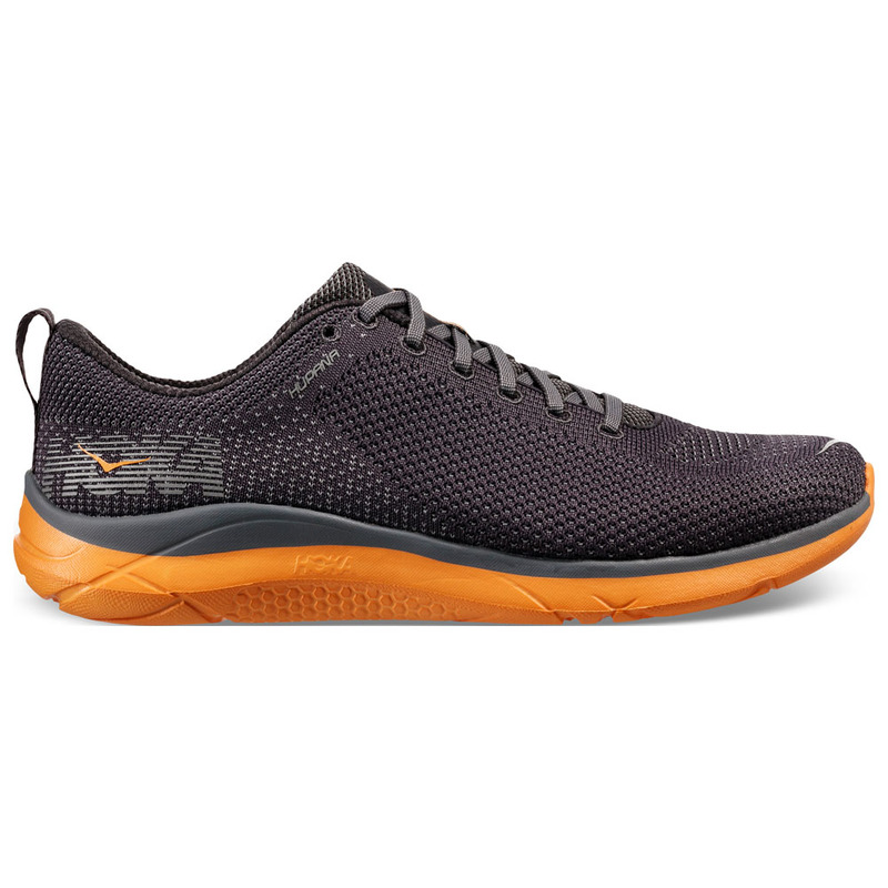 dee148119a254 Hoka One One Mens Hupana 2 Shoes (Blackened Pearl/Kumquat ...