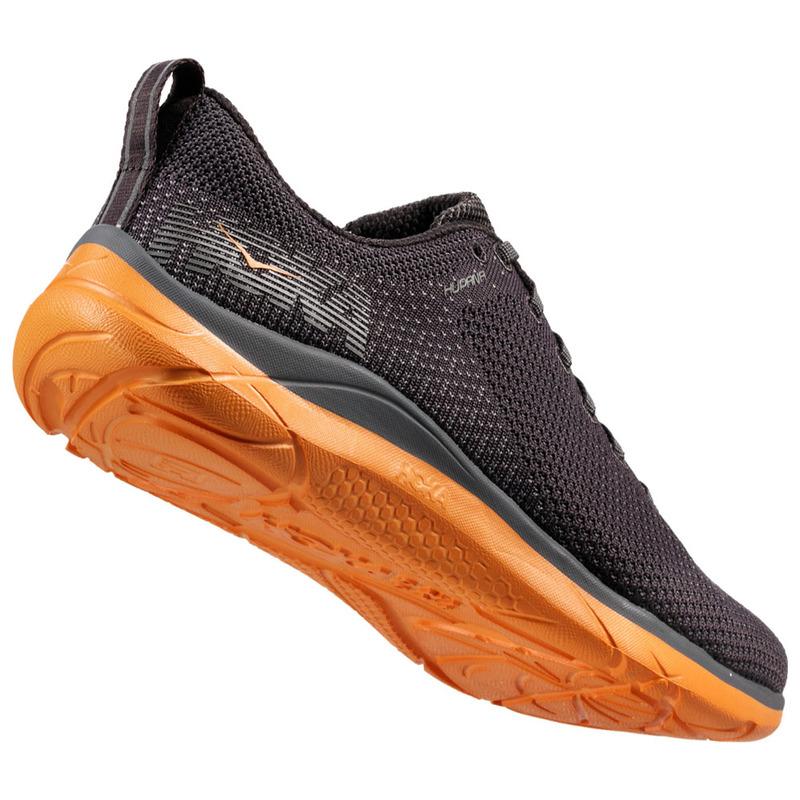 07f26f3526200 Hoka One One Mens Hupana 2 Shoes (Blackened Pearl/Kumquat) | Sportpurs
