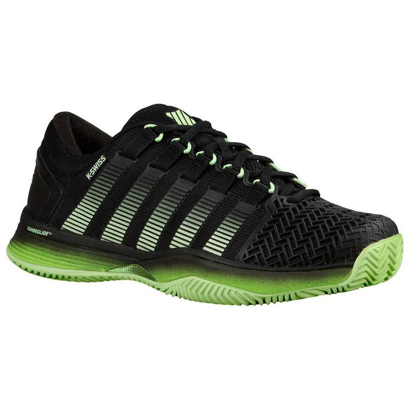c9f8f389670b2 K-Swiss Mens Hypercourt 2.0 Tennis Shoes (Black Green Jasmine ...