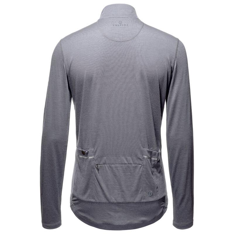 f02a13656 Vulpine Mens Alpine Extrafine Merino Long Sleeve Jersey (Heather ...
