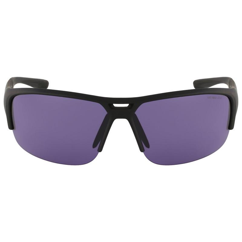 42cdef38f51 Nike Eyewear Golf X2 E Sunglasses (Matte Black White Max Purple Golf T