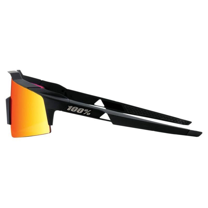100% Speedcraft SL Sonnenbrille Soft Tact Black HiPER Red