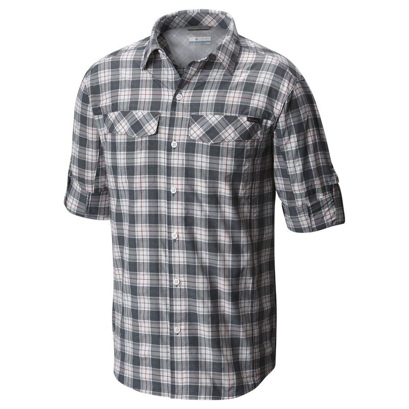 8d7f9d501ec Columbia Mens Silver Ridge Plaid Long Sleeve Shirt (Whale Heather Plai