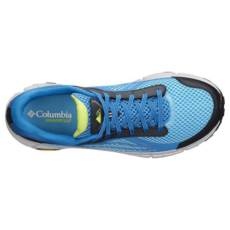 Columbia Mens Mojave Trail II Outdry Shoes (Blue Chill Bright Green)  c024a9b12de