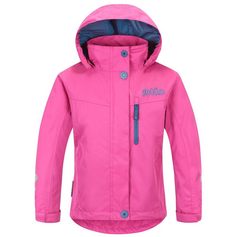 ae460f94d Skogstad Kids Bogen Waterproof Shell Jacket (Magenta) | Sportpursuit.c