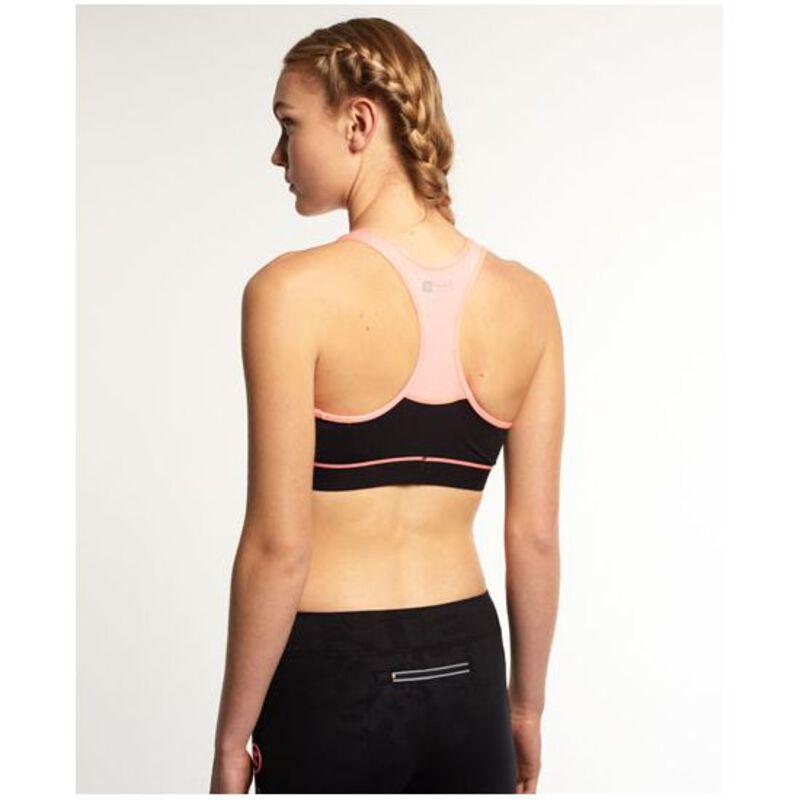 bafc3b1db8 Superdry Womens Superdry Core Gym Bra (Black Fluorescent Coral Grit)