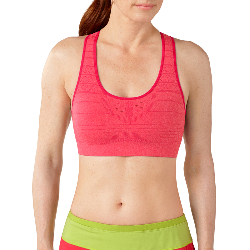 26fdac6be815c Smartwool Womens PHD Seamless Racerback Bra (Hibiscus Heather ...
