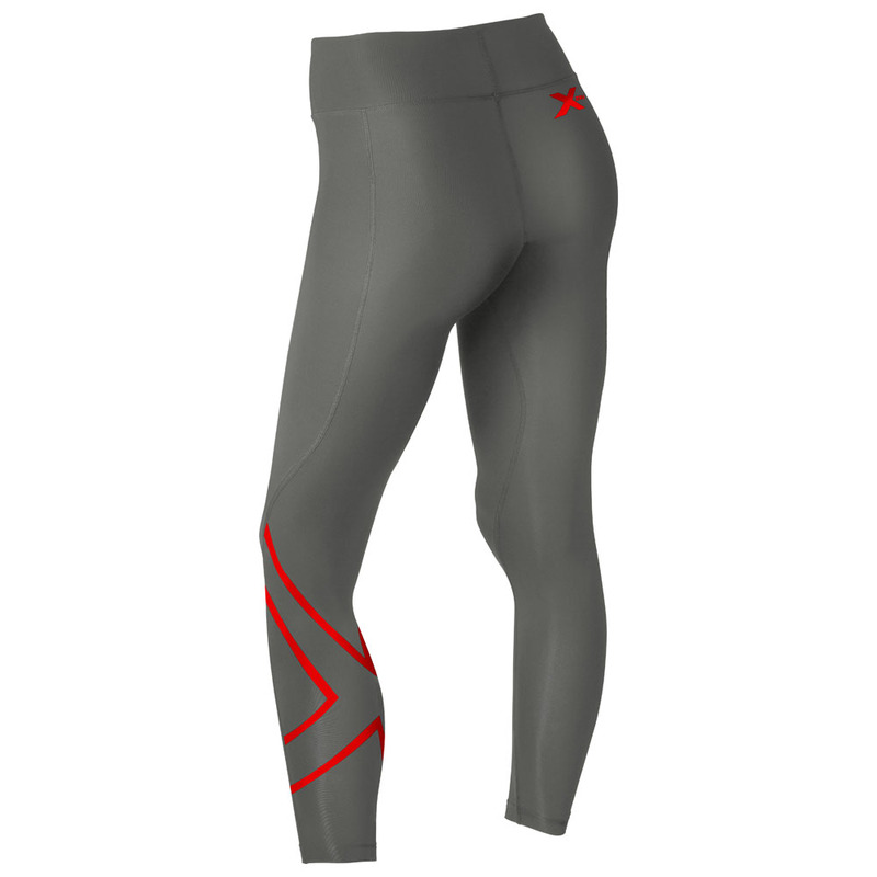 1833aad05faf4 Womens Hyoptik Thermal Compression Tights (Slate/Red Reflective)