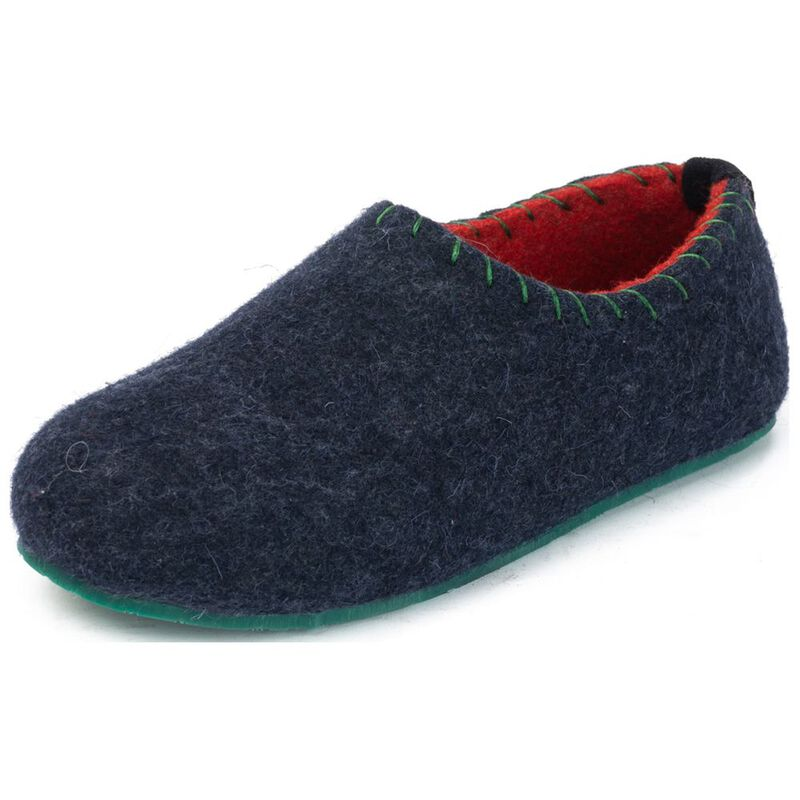 b7f59875d2d Comfortfusse Womens Yew Slippers (Navy)