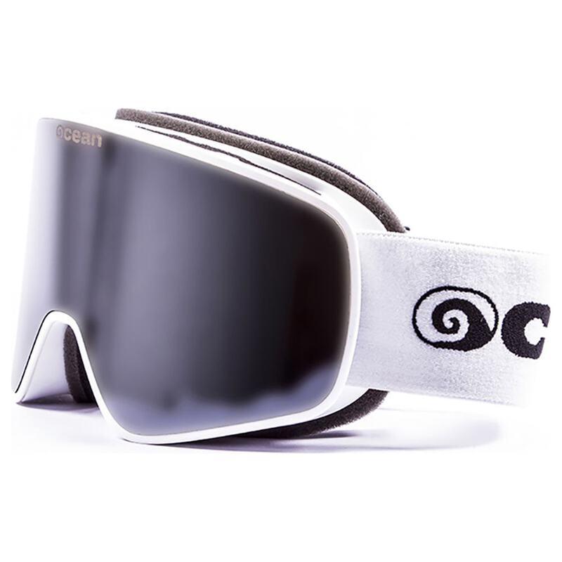 fde70ea7331 Ocean Aspen Ski Goggles (White Revo Silver Lens)