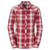 Womens South River Shirt (Indian Red Checks)