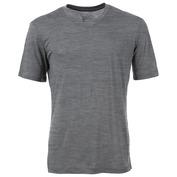 Mens Base V-Neck Merino 140 T-Shirt (Quiet Shade Melange)