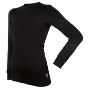Womens Blackwool Long Sleeve Top (Black)