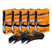 2 x GP4Season Tyres & 5 x Inner Tubes (60mm Valve)