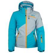 Womens Gizela Snowboard Jacket (Light Grey/Blue)