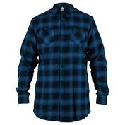 Mens Flannel Shirt (Midnight Blue)