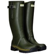 Mens Balmoral Adjustable 5mm Neoprene Wellington Boots (Dark Olive)