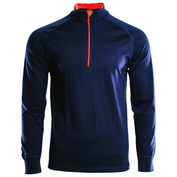 Mens Merino 200 Long Sleeve Zip Neck (Navy)