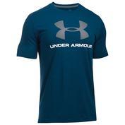 Mens Sportstyle Logo Short Sleeve Top (Blackout Navy Medium Heather/White/Steel)