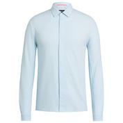 Mens Summer Longsleeve Shirt (Blue/White Stripe)