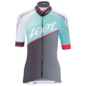 Womens Cycle Team Jersey (Aquamarine/Passion Fruit)